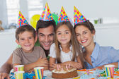 Beautiful family celebrating a party — Stock Photo