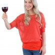 Woman with wine glass — Stock Photo #28060229