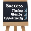 Stock Photo: Success terms written with a chalk on chalkboard