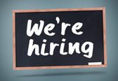 We are hiring written on chalkboard — Stock Photo