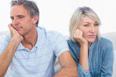 Couple sulking after a fight — Stock Photo