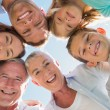 Stock Photo: Smiling multi generation family