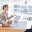 Business people having an interview — Stock Photo