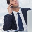 Thoughtful businessman having a phone call — Stock Photo #29446859