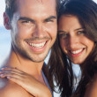Cheerful loving couple posing together — Stock Photo