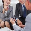 Business people arranging an appointment — Stock Photo