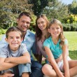 Cheerful family relaxing outside — Stock Photo #29448991