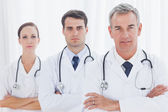 Serious doctors posing together — Stock Photo