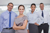 Cheerful work team posing together — Stock Photo