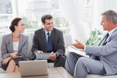 Business people having a meeting — Stock Photo