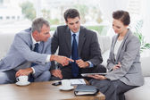 Work team having a meeting together — Stock Photo