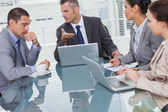 Business people interacting and working together — Stock Photo