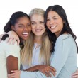 Happy friends embracing — Stock Photo