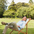 Happy mresting in sun lounger — Stock Photo #29451525