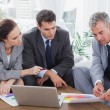 Business people analyzing financial graphs of their company — Stock Photo #29453129