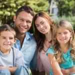 Familie die Sonne genießen — Stockfoto