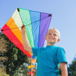 Boy playing with a kite — Stock Photo