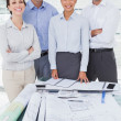 Happy architects posing while working together — Stock Photo #29457329