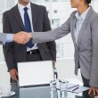 Business people meeting and shaking hands — Stock Photo