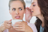 Woman telling secret to her friend — Stock Photo