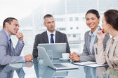 Business people working together over coffee — Stock Photo