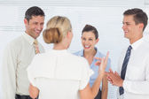 Cheerful coworkers having a break together — Stock Photo