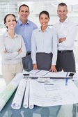 Happy architects posing while working together — Stock Photo