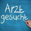 Hand writing arzt gesucht — Stock Photo #31461293