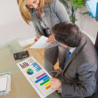 Business team discussing in an office — Stock Photo