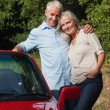 Happy mature couple posing  — Stock Photo