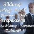 Businessman writing learning terms in german — 图库照片