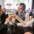 Business people celebrating a success with champagne — 图库照片
