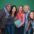 Group of cheerful friends posing together — Stock Photo