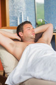 Man relaxing at the spa — Stock Photo