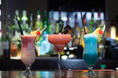 Close up on mouth watering cocktails — Stock Photo