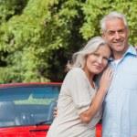 Cheerful mature couple posing — Stock Photo #31474135