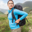 Female hiker looking away  — Stok fotoğraf