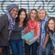 Happy group of friends laughing together — Stock Photo