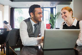 Happy business people working together — Stock Photo