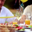Cheerful family celebrating a birthday — Stock Video #31528543