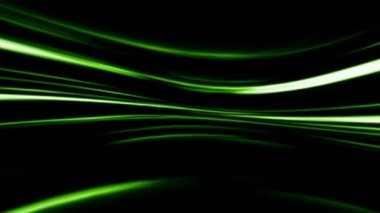 Abstract green line on black background — Stock Video
