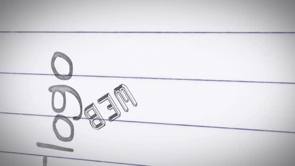 Animation des termes de design graphique — Vidéo
