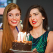 Friends celebrating birthday together — Stock Photo