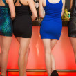 Sexy women legs standing at bar — Foto Stock