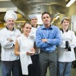 Restaurant team posing together — Stock Photo #33439891