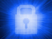 Digitally generated padlock — Stock Photo