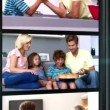 Several short clips showing a family at home — Stock Video #33431515