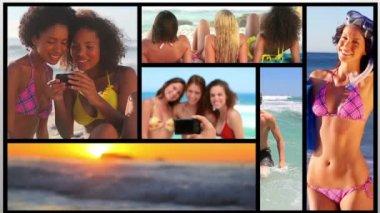 Clips cortos sobre la gente en la playa — Vídeo de stock
