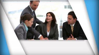 Korta klipp av affärsmän vid möten — Stockvideo