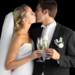 Lovely married couple kissing each other — Stock Photo #33446125